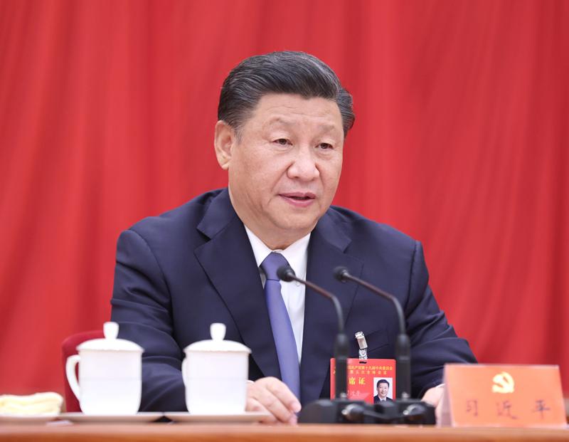 中国共产党第十九届中央委员会第五次全体会议,于2020年10月26日至29日在北京举行。中央委员会总书记习近平作重要讲话。新华社记者 鞠鹏 摄