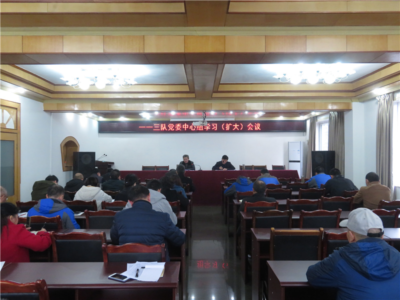 113队召开党委中心组学习(扩大)会议
